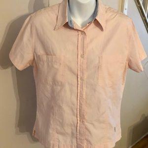 Tommy Hilfiger Pink Button Down Shirt Womens Sz 10